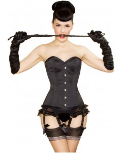 Kinnaird Ireland Dita Corset In Black Duchess Satin