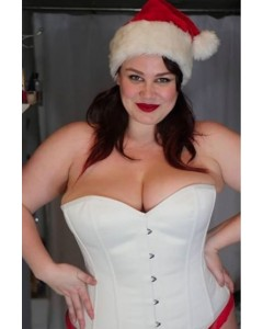 Plus Size Dita Corset In Ivory Duchess Satin