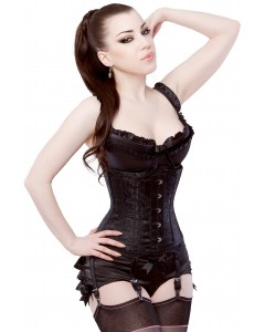 Playgirl Eve Steel Boned Black Brocade Cincher Corset
