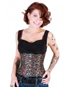 Playgirl Eve Steel Boned Dragon Brocade Waist Cincher