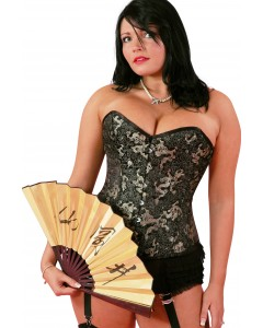 Playgirl Steel Boned Dragon Brocade Corset