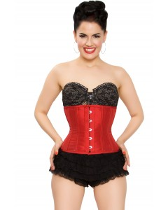 Playgirl Eve Steel Boned Tafetta Red Cincher Corset