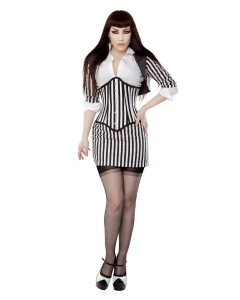 Playgirl Black & White Fitted Bolero Shrug Top
