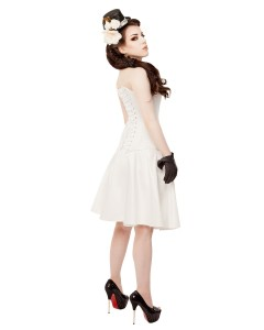 Playgirl Ivory Satin Cirle Skirt