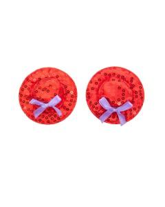 Red Top Hat Nipple Pasties