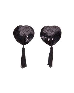 Black Sequin Nipple Tassels