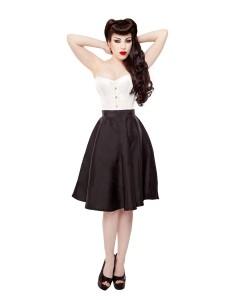 Playgirl Black Tafetta Circle Skirt
