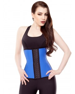 Playgirl Blue Latex Work Out Waist Trainer
