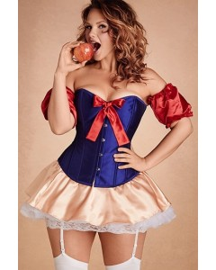 Snow White Steel Boned Overbust Corset
