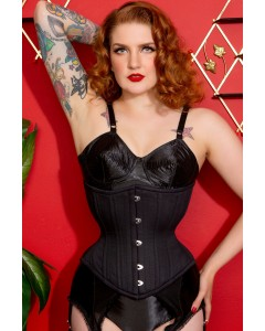 Artemis Corset Designed by Lucy's Corsetry Hourglass Silhouette in Black