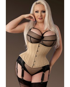 Plus Size Artemis Hourglass Waist Training Corset In Nude